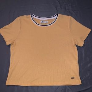 Yellow Hollister Waffle Short Sleeve